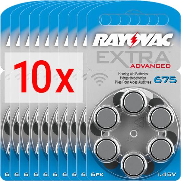 Hörgerätebatterien Rayovac Extra Advanced 675 - 10 Blister