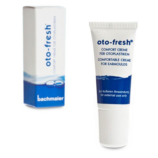 oto-fresh® Comfort Creme für ein angenehmes, frisches Tragegefühl und leichtes Einsetzen der Otoplastik.