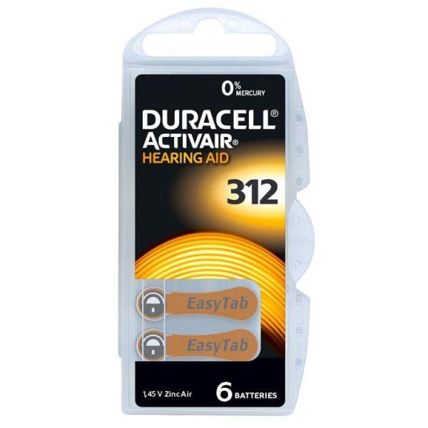 Hörgerätebatterie Duracell Activair 312