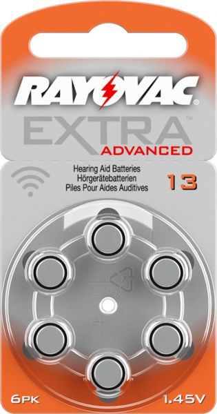 Rayovac Extra Advanced 13 Knopfzellen Hörgeräte- Batterien