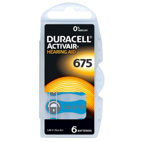 Hörgerätebatterie Duracell © Activair © 675 Hearing Aid mit EasyTab © (PR44/PR1154)