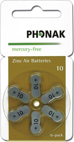 Hörgeräte-Batterien 10 Phonak Wireless approved