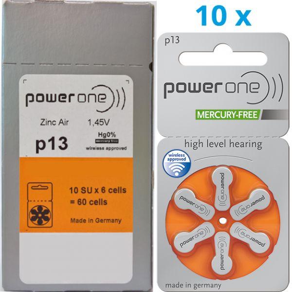 Hörgerätebatterien Power One P 13 (0% Quecksilber) Vorteilspack