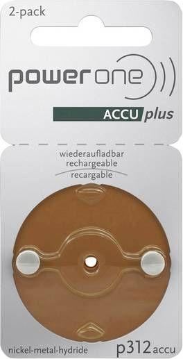 power one Accu plus p312 wiederaufladbare Hörgerätebatterien - wiederverwendbare Akkus