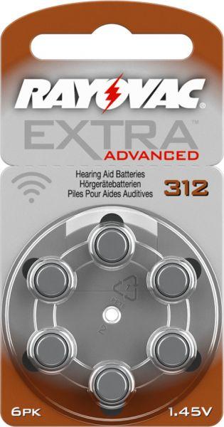 Rayovac Extra Advanced 312 Knopfzellen Hörgeräte- Batterien