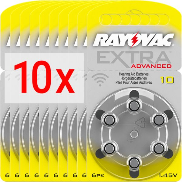 Hörgerätebatterien Rayovac Extra Advanced 10 - 10 Blister