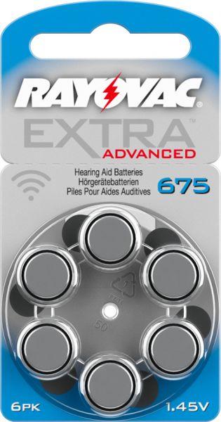 Rayovac Extra Advanced 675 Knopfzellen Hörgeräte- Batterien