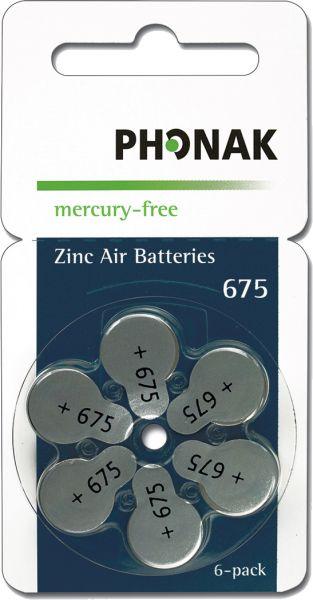Hörgeräte-Batterien 675 Phonak Wireless approved