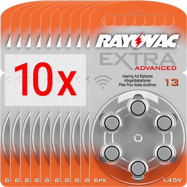 Hörgerätebatterien Rayovac Extra Advanced 13 - 10 Blister